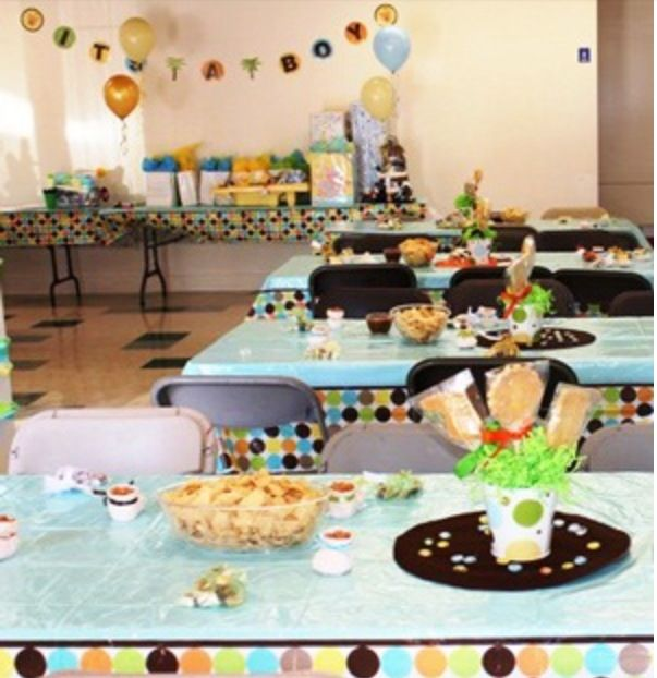 Centerpiece table set up baby shower ideas pinterest for Baby shower safari decoration