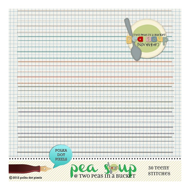 pea soup november - teeny stitches by Polka Dot Pixels - Two Peas in a ...