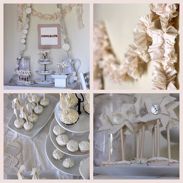 This All White Bridal Baby Shower Baby Shower Ideas Pinter