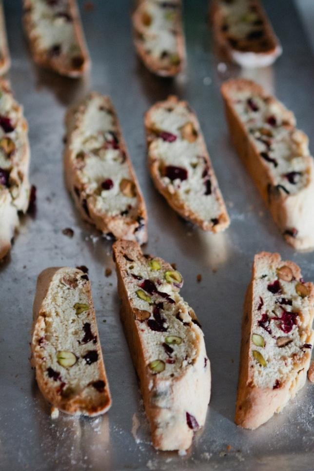 Cranberry-Pistachio Cornmeal Biscotti Recipe — Dishmaps