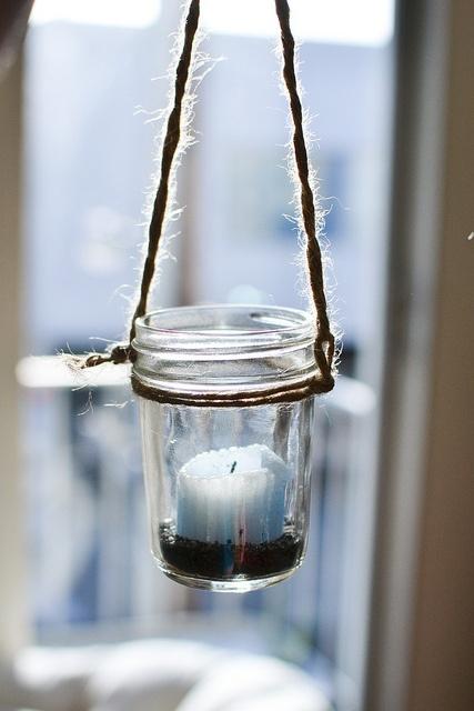 hanging jars   Wedding   Pinterest