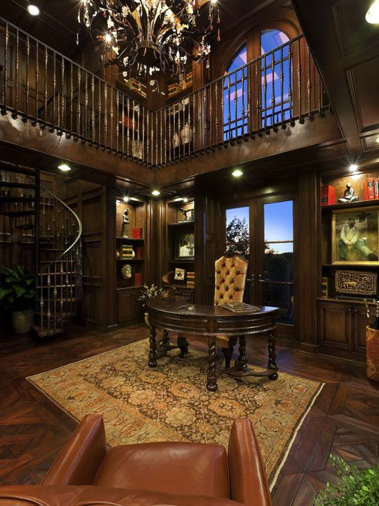 Wow Two Story Office Library For The Home Pinterest