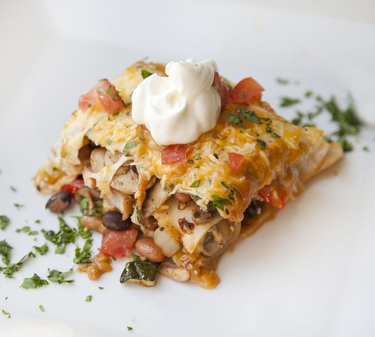 vegetarian enchiladas | veggies | Pinterest