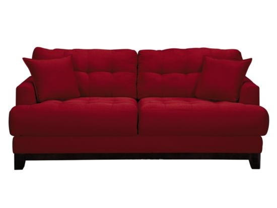 Calypso red sofa value city furniture home pinterest for Red sectional sofa value city