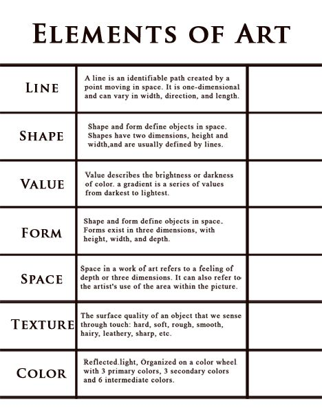 7 Elements Of Art Examples : Handout elements of art education pinterest