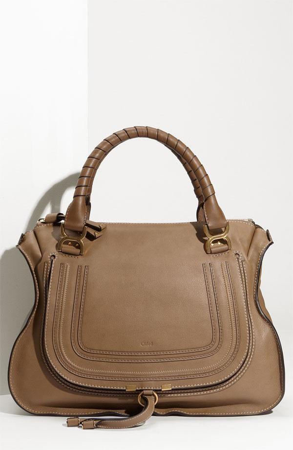 chloe 39 large marcie 39 leather bag. Black Bedroom Furniture Sets. Home Design Ideas