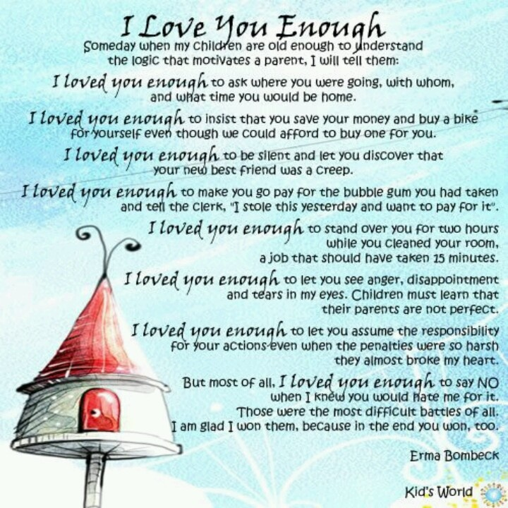 I Love You Enough Quotes : Love You