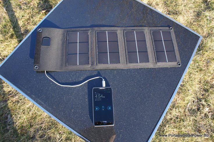 Portable Solar USB Phone Charger