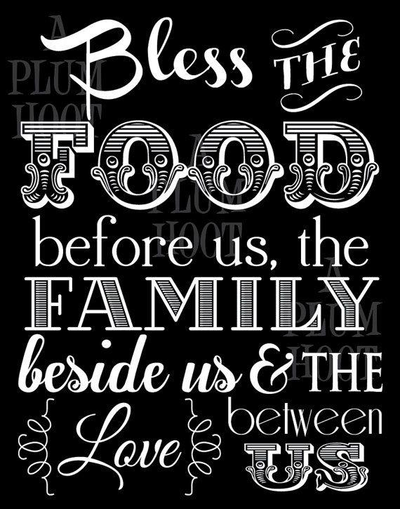 Kitchen Blessing/Prayer Art Printable. Instant by APlumHoot