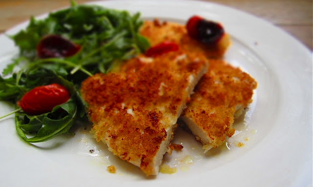 Chicken Milanese with Slow-Roasted Cherry Tomatoes and Arugula ...