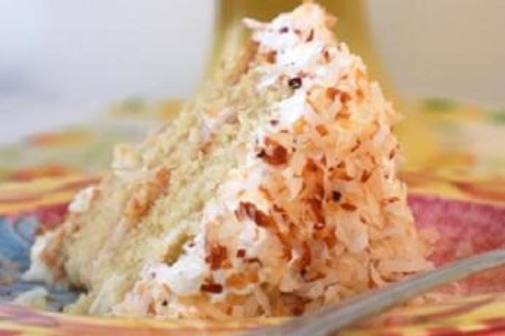 Coconut-Peach Layer cake | Recipes | Pinterest
