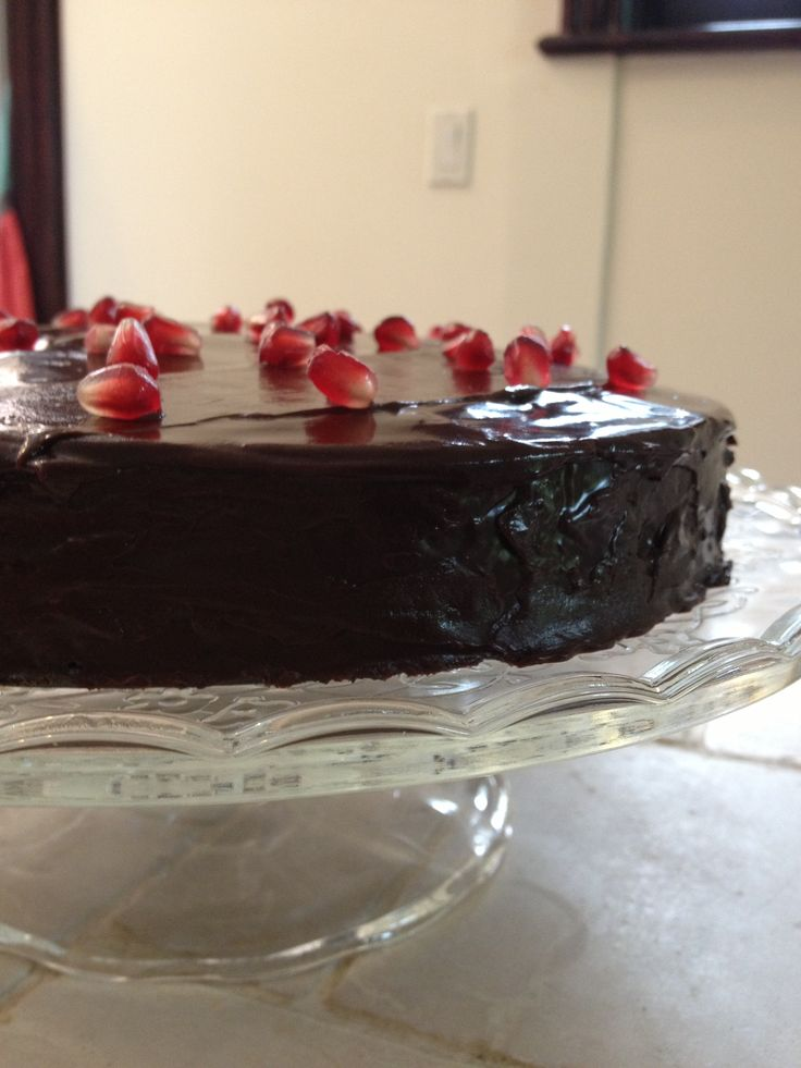 ... is the most delicious chocolate torte ever! (Recipe from Fine Cooking