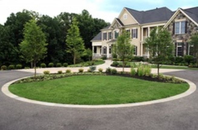 circular driveway landscaping ideas landscape ideas. Black Bedroom Furniture Sets. Home Design Ideas