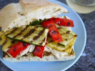 Grilled Vegetable & Hummus Sandwich | Sandwiches, Burgers, and Wraps ...