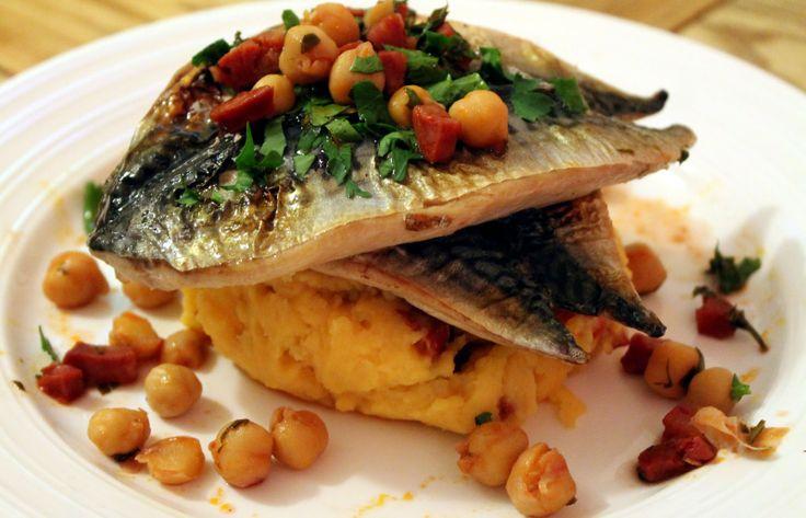... Medium Rare: Grilled Mackerel, with Potato & Chorizo Mash and
