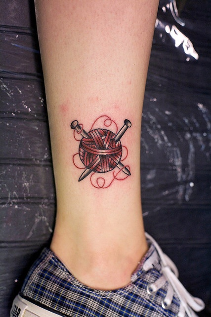 Knitting Related Tattoos : Knitting tattoo flash imgkid the image kid has it