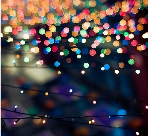 blurry christmas lights merry - photo #3