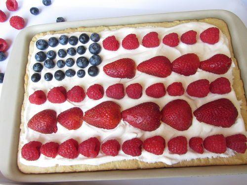 Flag fruit pizza #recipe #4thofjuly | holidays | Pinterest