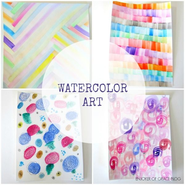 Easy ideas for watercolor art watercolor art pinterest for Watercolor ideas easy
