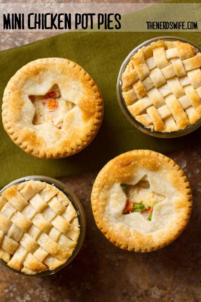 Mini Chicken Pot Pies | Savoury Pies | Pinterest