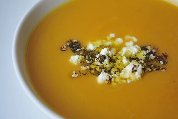 ... www.food52.com/recipes/1598_sweet_potato_soup_with_feta_and_zaatar_oil