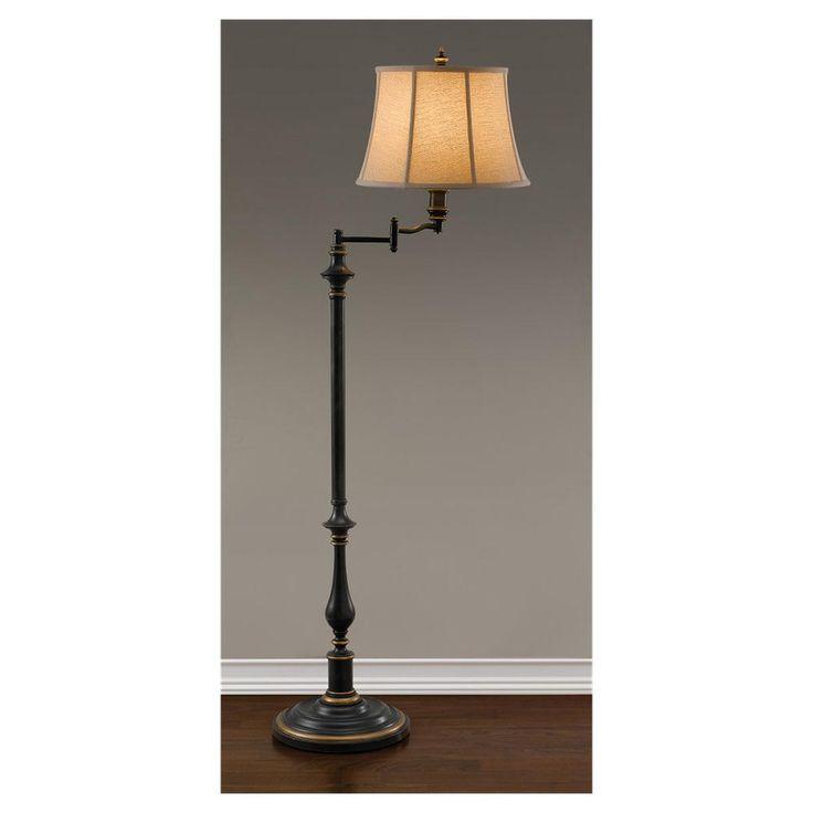 traditional baluster swing arm floor lamp. Black Bedroom Furniture Sets. Home Design Ideas