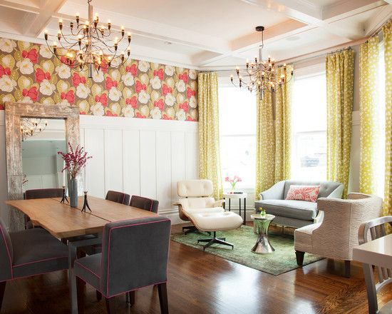 Wall treatment dining room ideas pinterest for Dining room with sitting area ideas