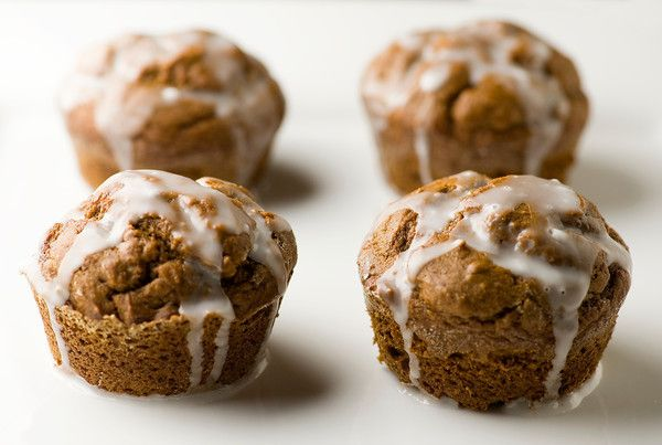 Glazed Gingerbread Muffins - Framed Cooks // for LC, use almond or ...