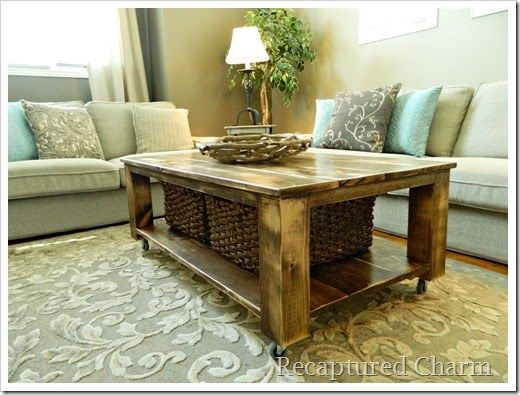 Do It Yourself Rustic Coffee Table Super Neat Idea Pinterest