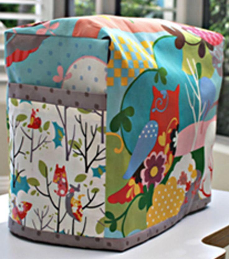 Love this cute sewing machine cover! #sewjoann