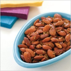 Spiced Almonds (recipe from Americas Test Kitchen)
