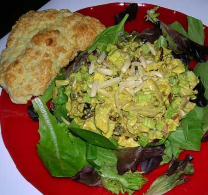 "Curried Turkey Salad with Cranberries | Food - ""I Love You"" 