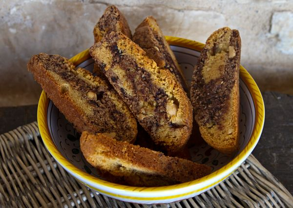 Italian Food Forever » Chocolate Peanut Butter Marbled Biscotti ...