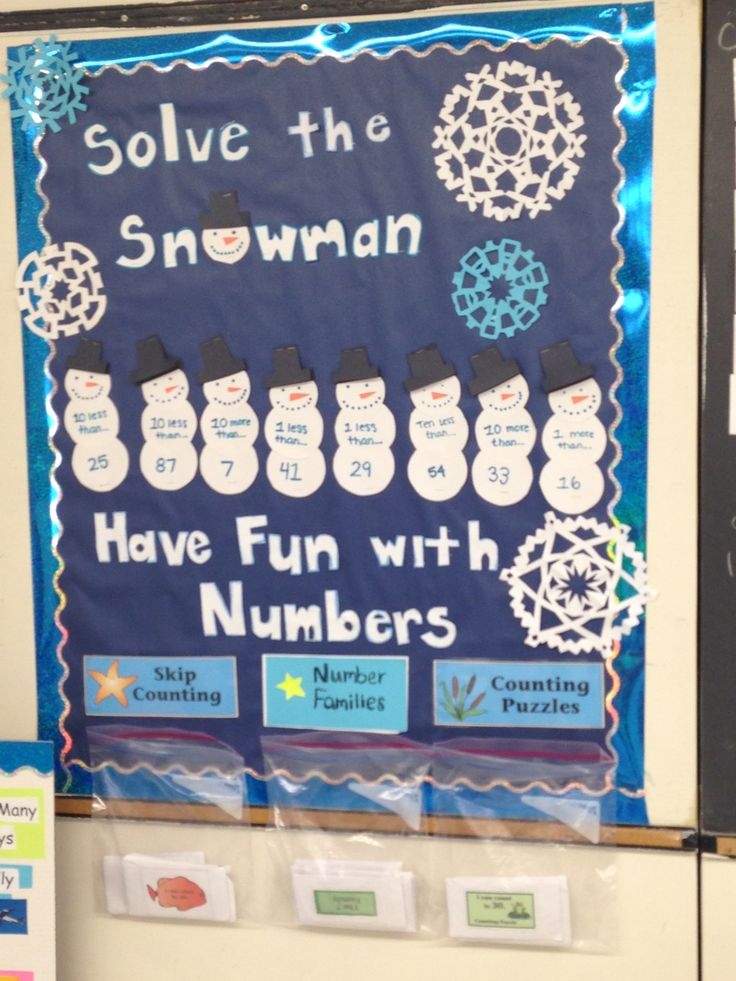 Winter interactive math bulletin board super cute and completely