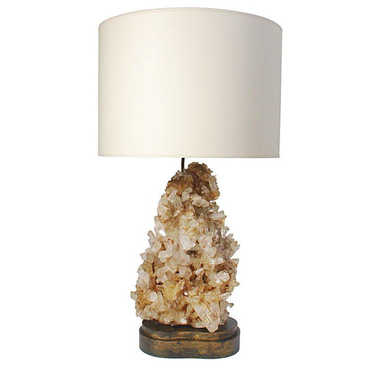 // c. 1940s rock crystal lamp, Carole Stupell