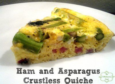 Ham and Asparagus Crustless Quiche | Recipe