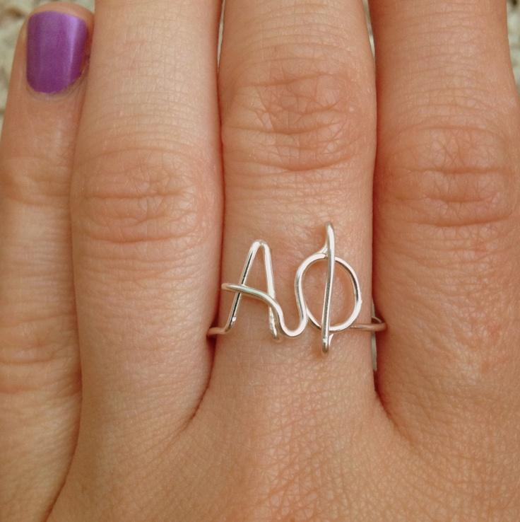 custom greek letters ring see description for ordering With custom greek letter rings