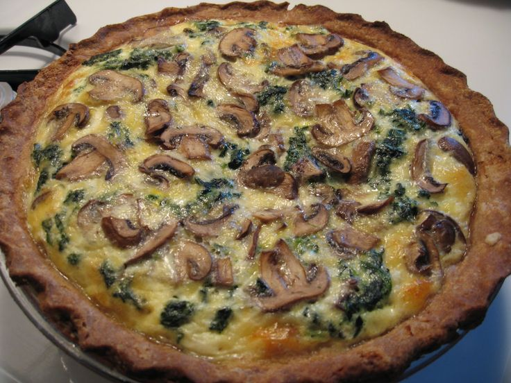 mushroom and spinach quiche | QUICHES | Pinterest