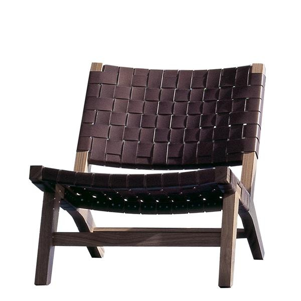 128 Lounge Chair Woven leather seating Furniture