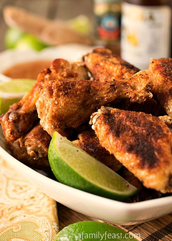 Crispy Asian Chicken Wings with Ginger-Lime Dipping Sauce | Recipe
