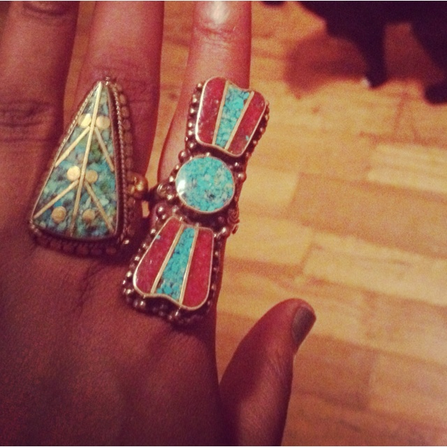 Tibetan rings from NYC boutique.