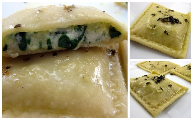 ... ' Kitchen: Spinach & Three Cheese Ravioli with Garlic Butter Sauce