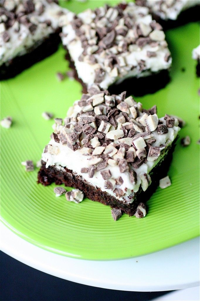 Chocolate mint brownies   food   Pinterest