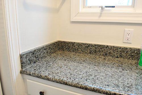 Removing Tile Backsplash Removing The Side Splash Backsplash From Our Bathroom Sink