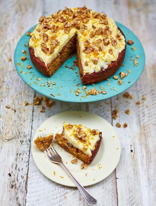 Gluten-free carrot cake with zesty cream-cheese icing Deliciously ...