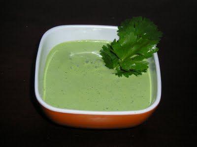 Cilantro Cream Sauce | Dinner/Lunch Recipes | Pinterest