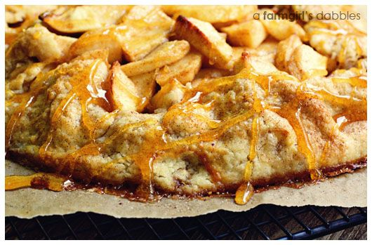 Apple Almond Galette with Toffee Almond Drizzle