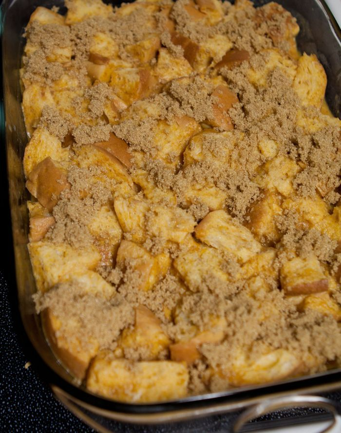 Pumpkin French Toast Casserole (assemble the night before)