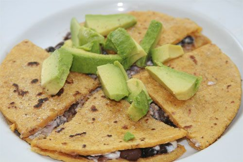 Black Bean and Goat Cheese Quesadillas with Homemade Corn Tortillas