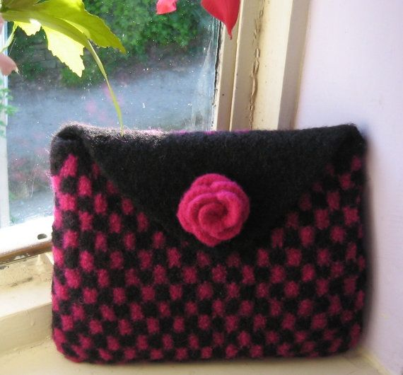 Knitted Clutch Pattern : Knitting Patterns